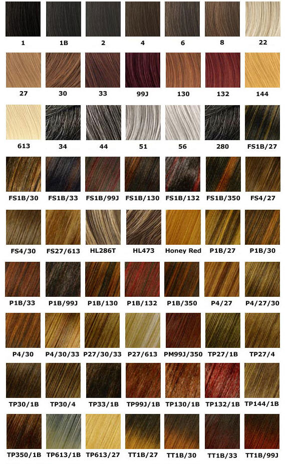 Favorite Hair Color Charts Hairfleek Extensions