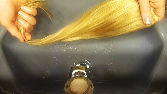 washing clip in hair extensions