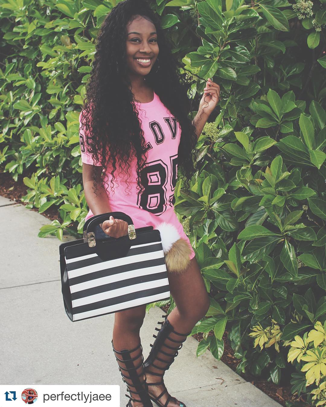SPOTTED: PerfectlyJaee wearing Deep Wave Extensions