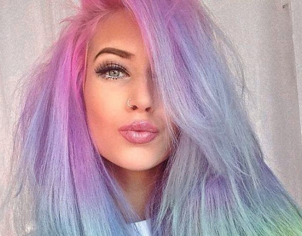Cool Pastel Rainbow Hairstyle
