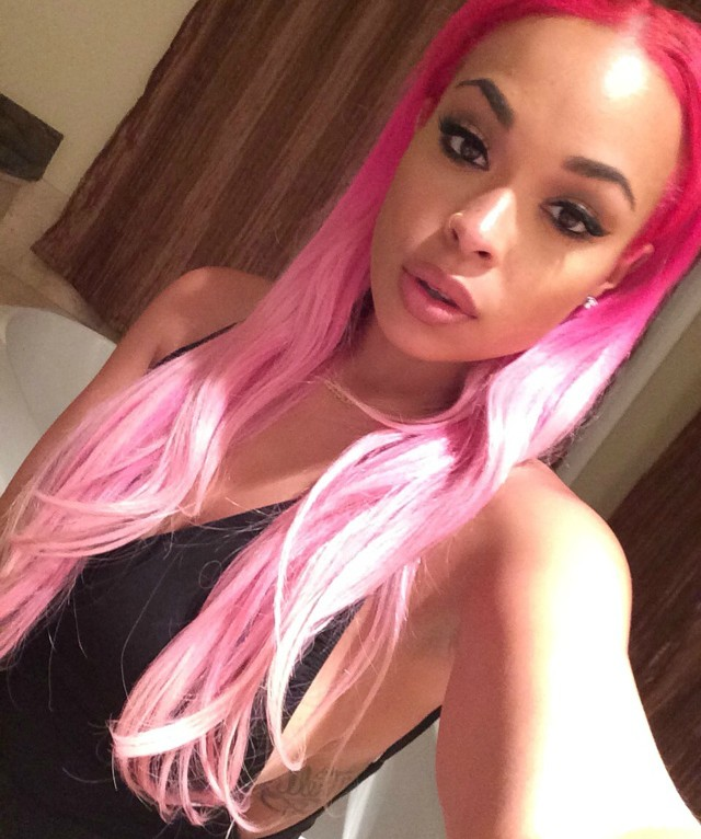 Pink Hair Extension hairstyle