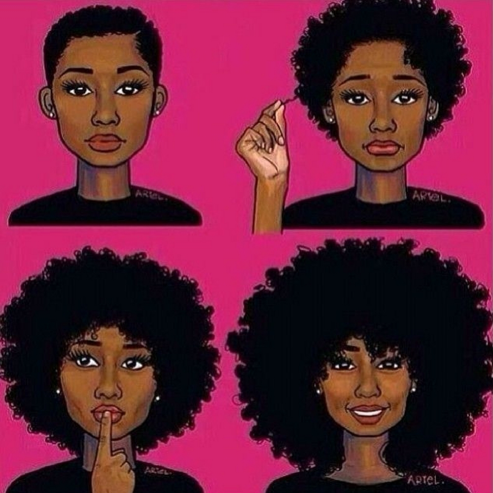 Grow Your Natural Hair With Weave!