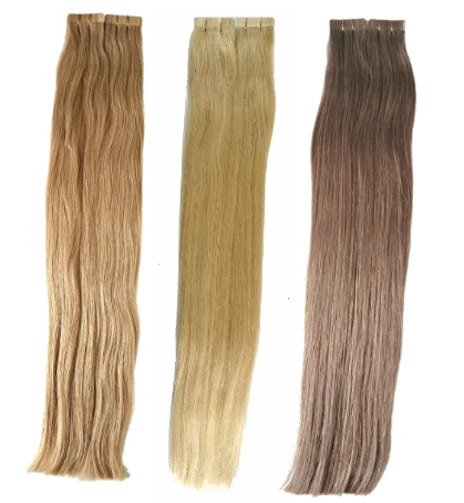 Tape in hair extension colors