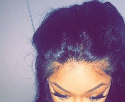 Girl Wearing Lace Frontal