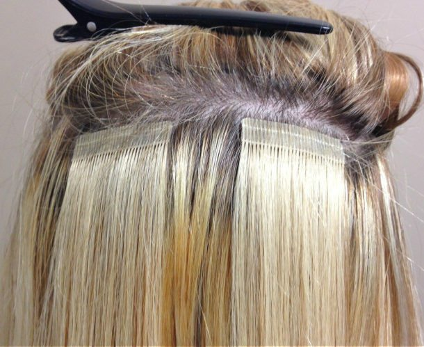 Tape In Hair Application