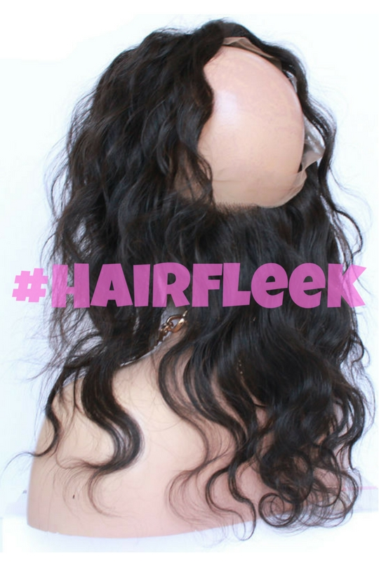 Body Wave 360 lace frontal back